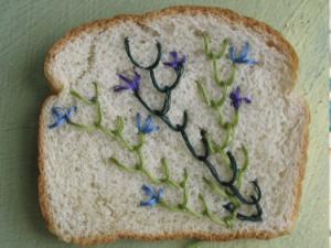 Brood borduren moet heel voorzichtig, weet kunstenares Catherine Mcever