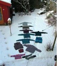 """Noorse Truien In De Sneeuw """"wassen""""."""