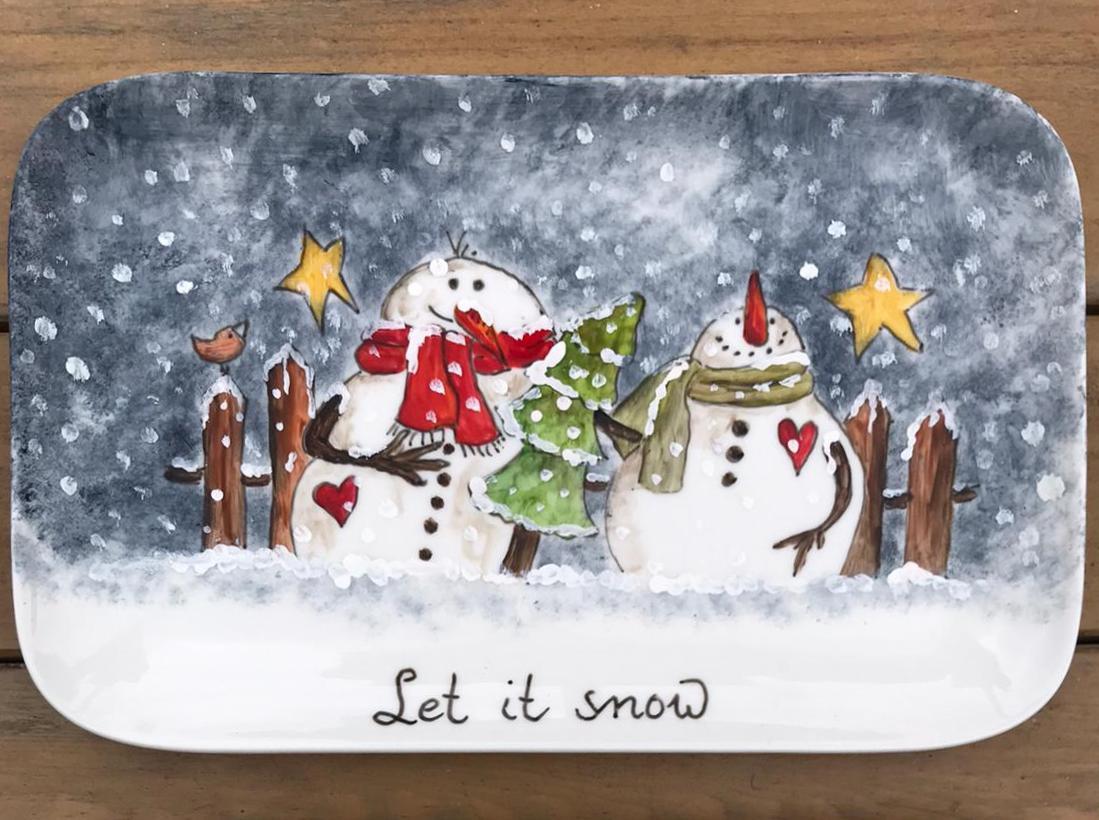 Kerstschaal, Rechthoekig En Plat