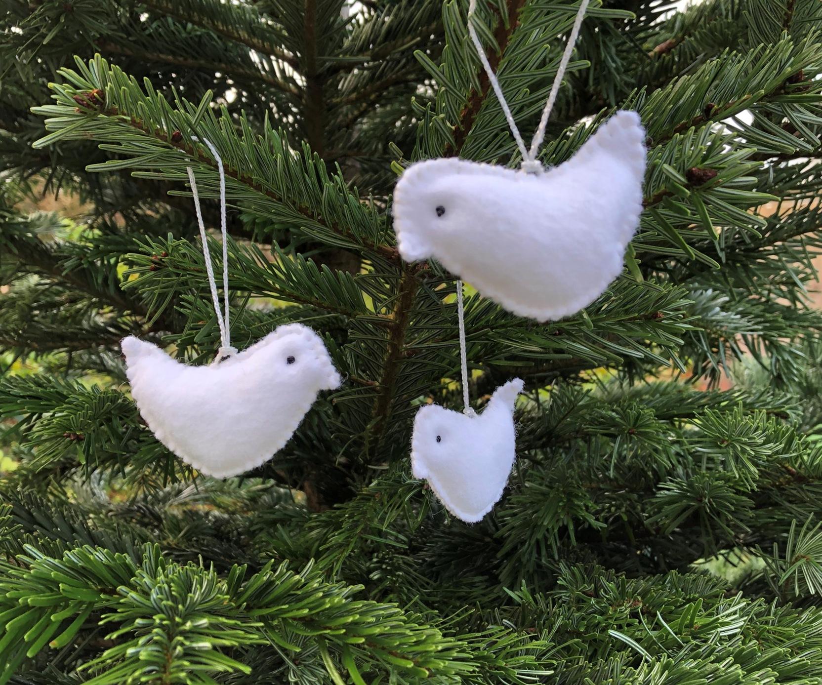 Kerstboomhanger 'Duifje'